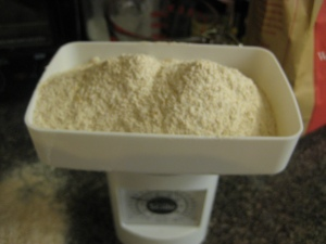 I even weighed out the flour