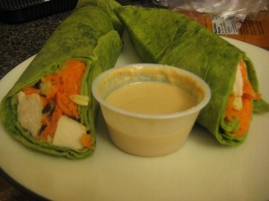 plated Thai chicken wrap