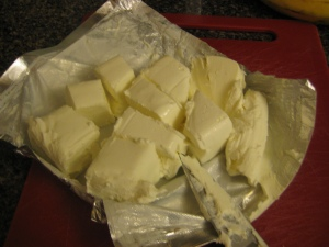 cream cheese chunks